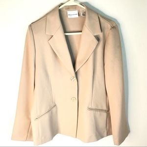 Alfred Dunner Cream Jacket Lined Size 10